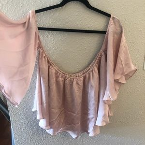 Pink boutique crop with sleeves